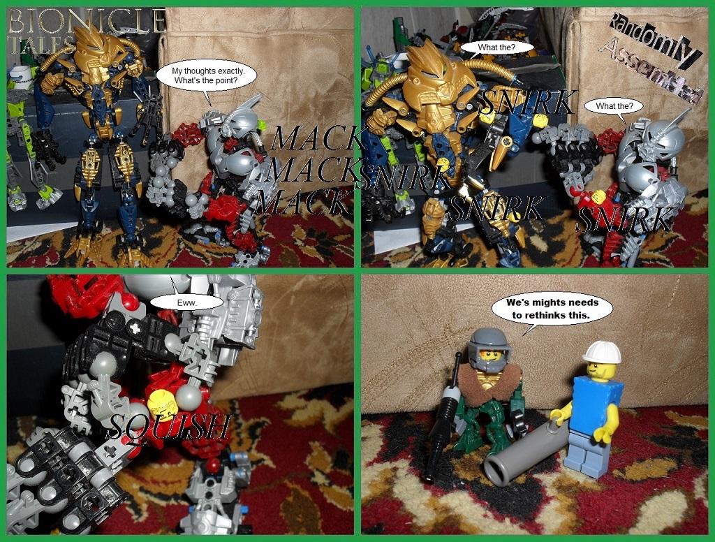Randomly assembled Bionicle comic